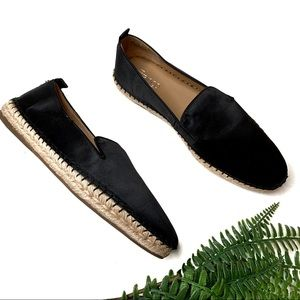 Franco Sarto Black Dallie Satin Espadrille flats